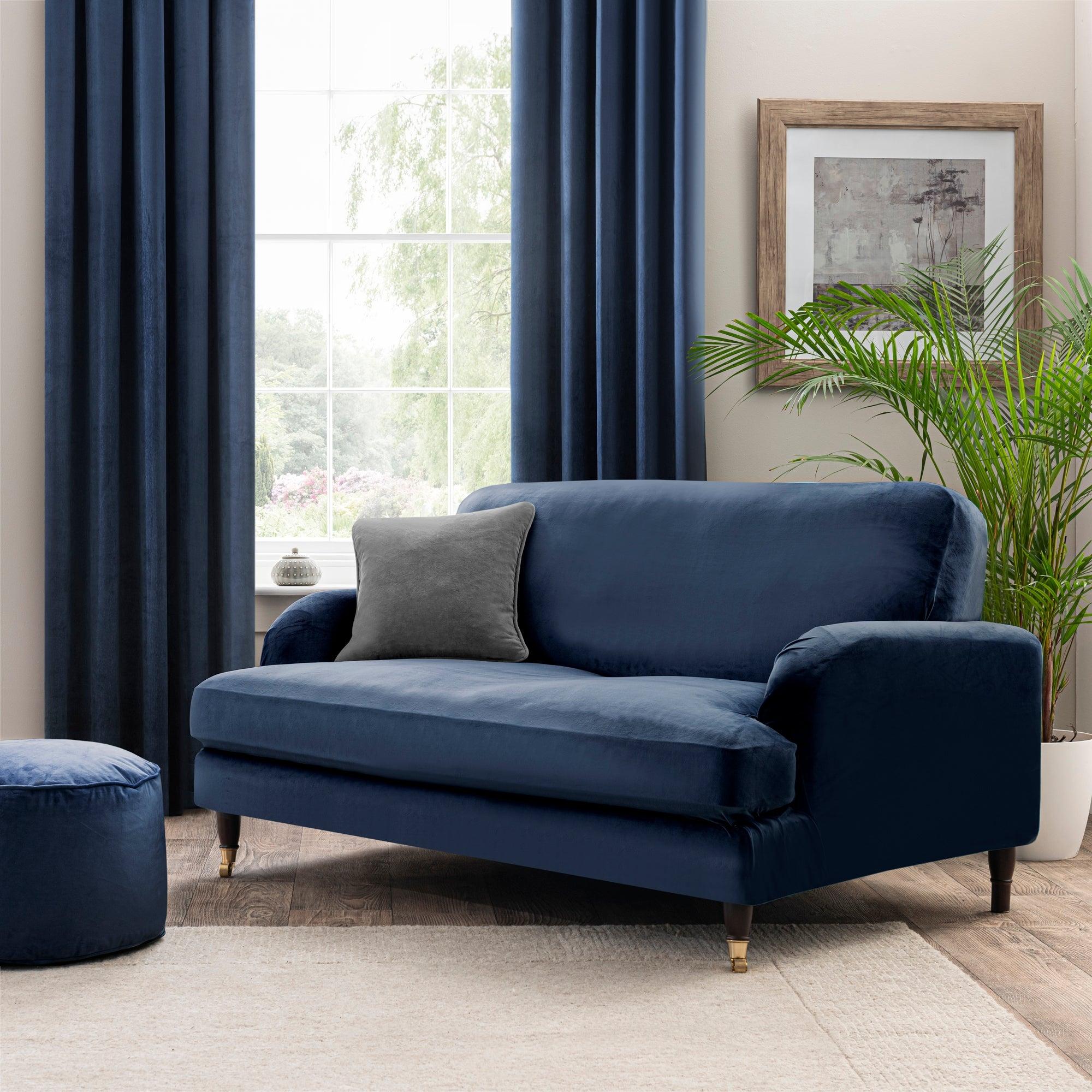 Isla Two Seater Sofa Cover Blue