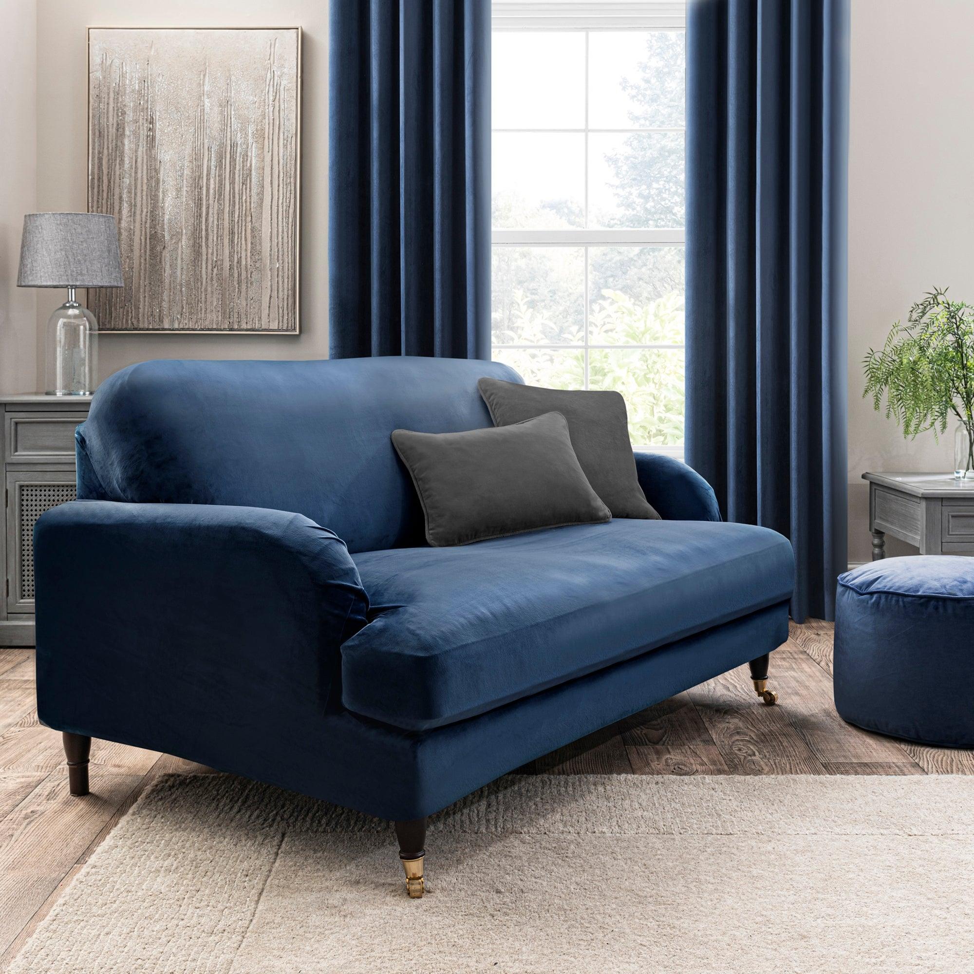 Isla Three Seater Sofa Cover Blue
