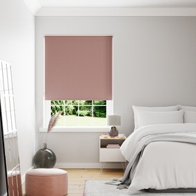Textured Rose and Blush Reversible Blackout Roller Blind