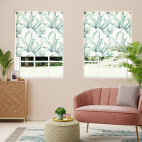 Tropical Palm Natural Daylight Roller Blind