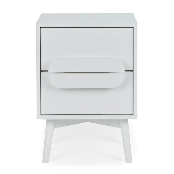 Anders 2 Drawer Bedside Table White