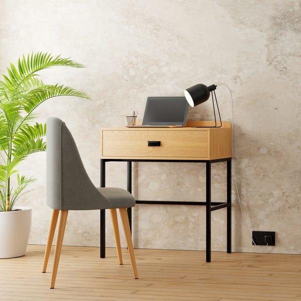 Greenwich Compact Desk Wood (Brown)