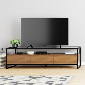 Dillon Oak Extra Wide TV Stand
