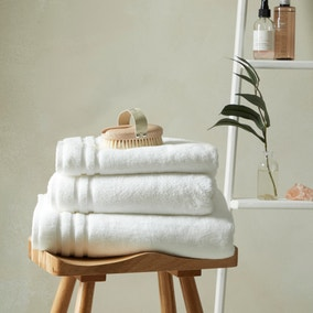 So Soft Anti Bacterial Bamboo White Towel