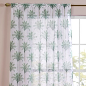 Palm Tree Green Slot Top Single Voile Panel