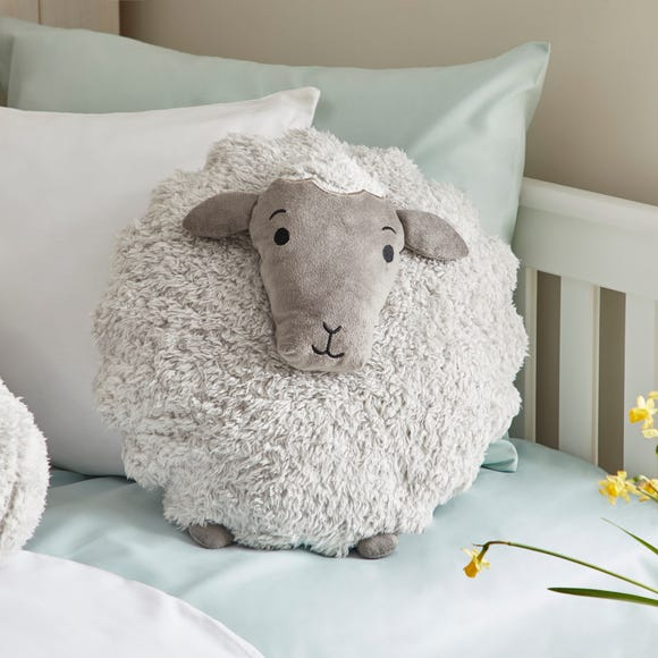 Penny the Sheep Character Cushion Grey