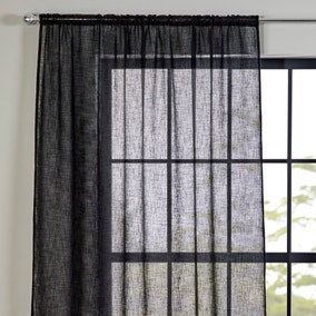 Recycled Polyester Black Slot Top Voile