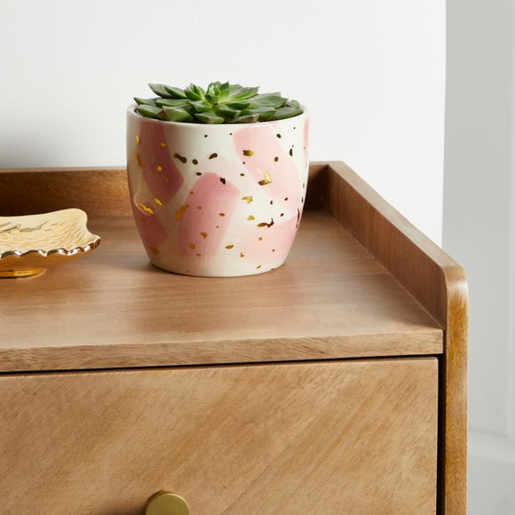 Abstract Pink Plant Pot Pink