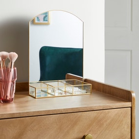 Gold Trim Dressing Table Mirror 35cm
