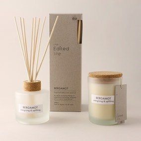 Natural Bergamot Soy Wax Blend Candle Diffuser Set
