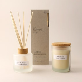Natural Chamomile Soy Wax Blend Candle Diffuser Set