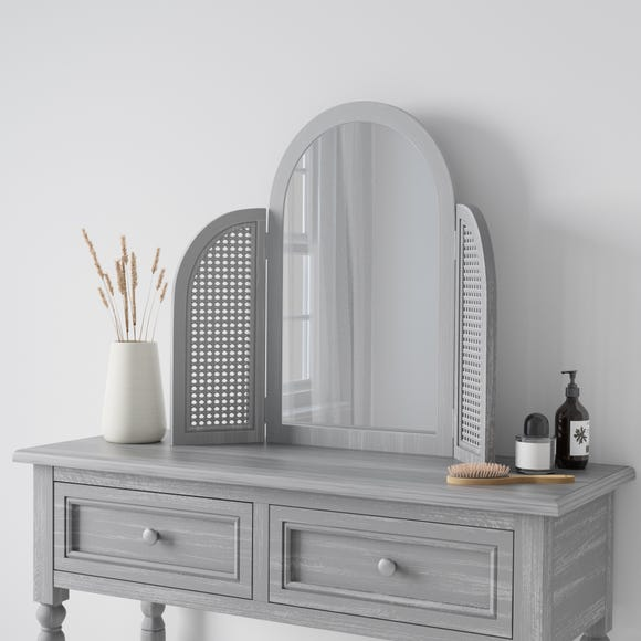 Lucy Cane Dressing Table Mirror  Grey undefined