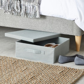 Lidded Grey Shoe Box