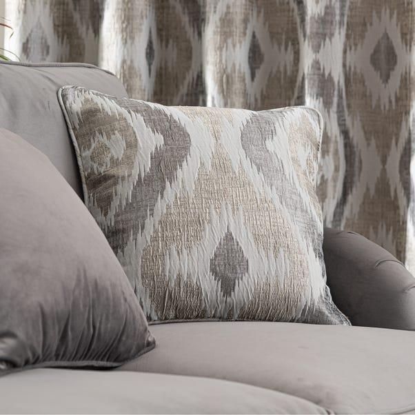 Ikat Jacquard Cushion Natural undefined