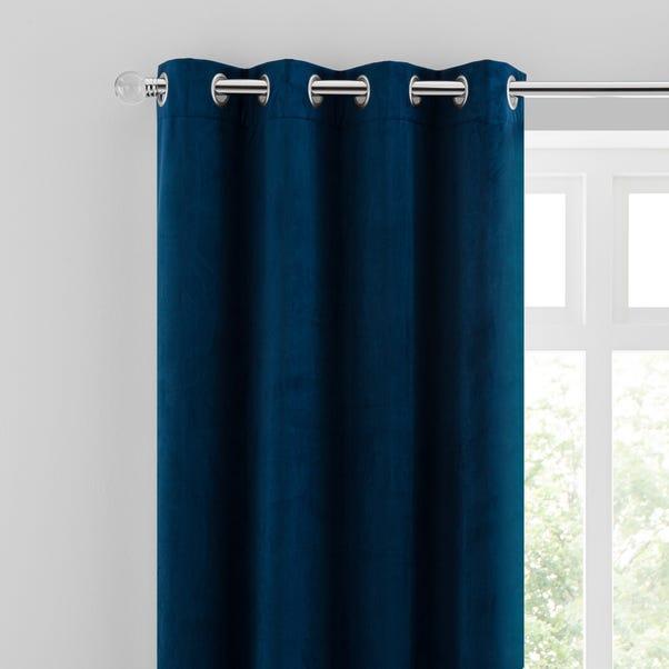 Isla Midnight Blue Eyelet Curtains  undefined