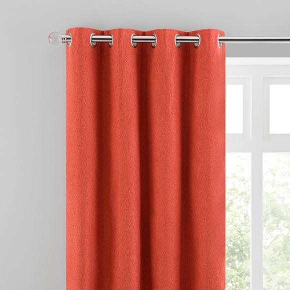 Luna Brushed Ginger Blackout Eyelet Curtains  undefined