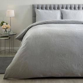 Antigone Silver Duvet Cover and Pillowcase Set