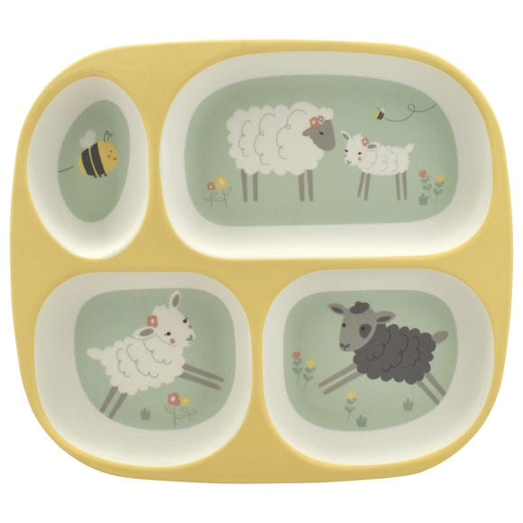 Penny Sheep Kids Divider Plate MultiColoured