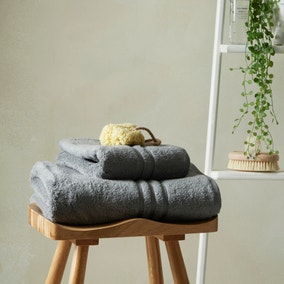 Teddy 100% Cotton Charcoal Towel
