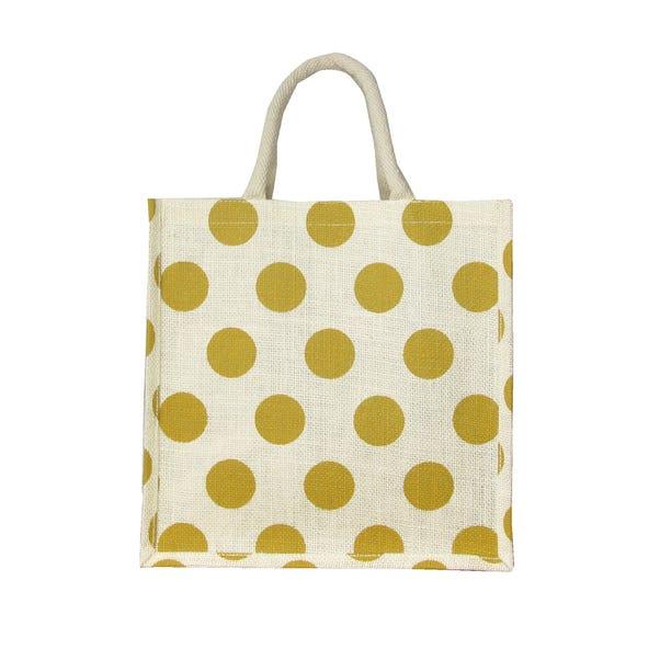 Easter Medium Jute Shopper Bag MultiColoured