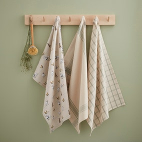 Watercolour Animals Tea Towels Set of 3