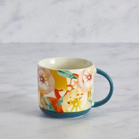 Watercolour Blue Fruit Mug