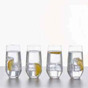 Set of 4 Connoisseur Crystal Glass Hiballs