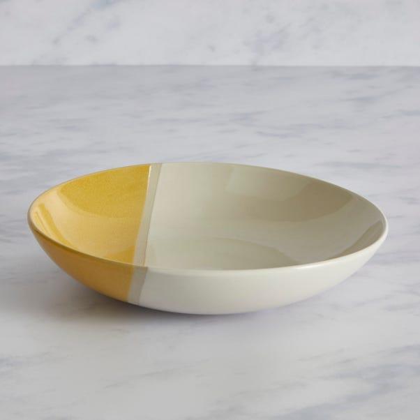 Elements Dipped Pasta Bowl Ochre Ochre