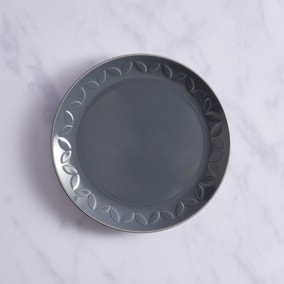 VETE Embossed Side Plate Charcoal