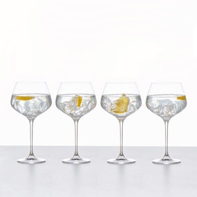 Set of 4 Connoisseur Crystal Glass Gin Glasses