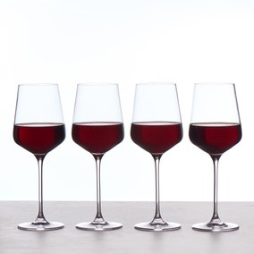 Set of 4 Connoisseur Crystal Glass Large Red Wine Glasses