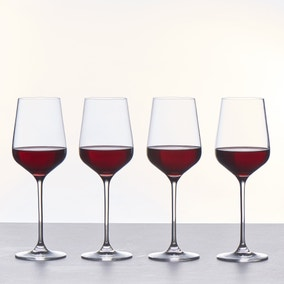 Set of 4 Connoisseur Crystal Glass Red Wine Glasses