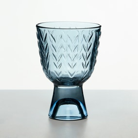Thyme Blue Wine Glass