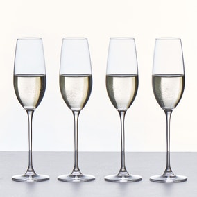 Set of 4 Pure Champagne Flutes