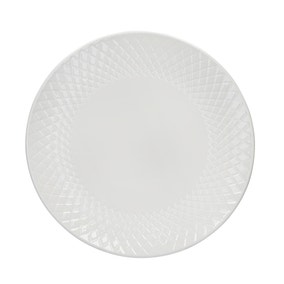 Quilted White Side Plate