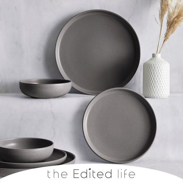 Urban 12 Piece Charcoal Dinner Set  Charcoal (Grey)