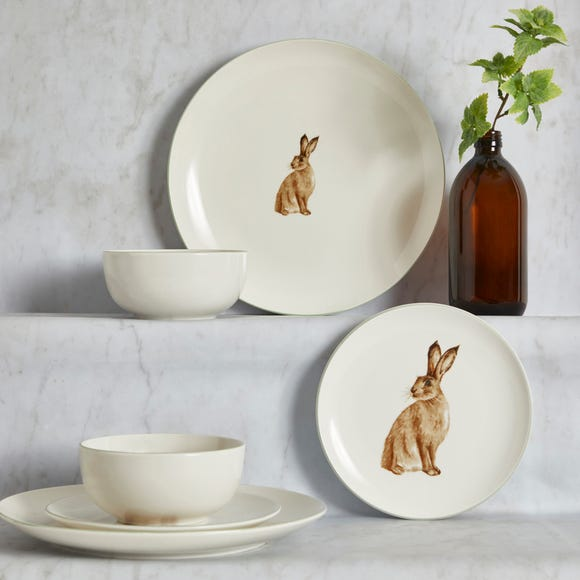 Homestead Hare 12 Piece Set Natural