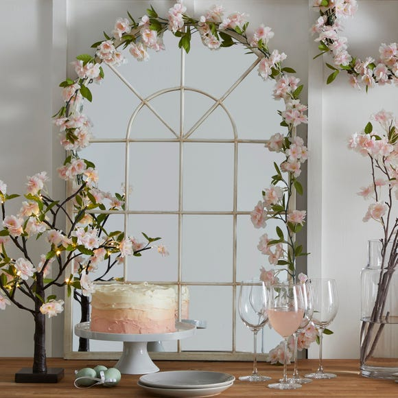 Apple Blossom Garland White