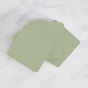 Painted Wooden Coasters Set of 4