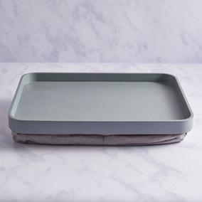 Contemporary Lap Tray Rectangular Grey