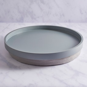 Contemporary Shape Lap Tray Round Grey