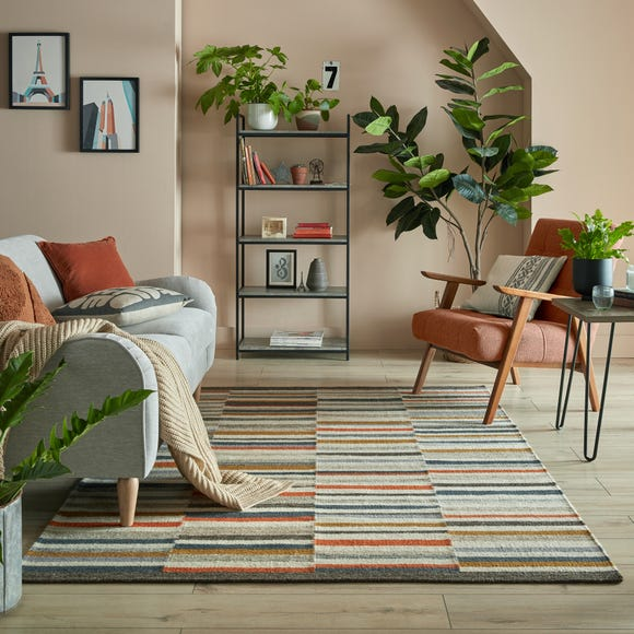 Drake Stripe Woven Rug  undefined