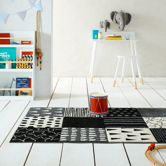 Alby Patchwork Rug Alby Patchwork Monochrome undefined