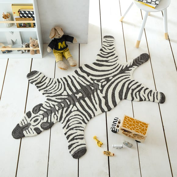 Zoe the Zebra 90cm x 150cm Rug Zoe Zebra Monochrome