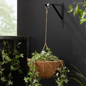 Elements Gold Wire Semi Circle Hanging Basket