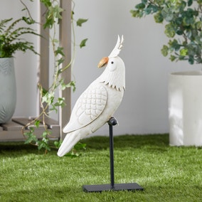 White Parrot Outdoor Ornament