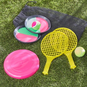 Outdoor 3 in 1 Tennis, Catch and Flying Disc Game