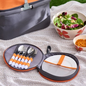 Elements Outdoor Picnic Plate and Cutlery Case Set