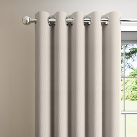 Corduroy Chateau Grey Blackout Eyelet Curtains