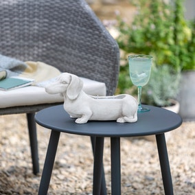 White Sausage Dog Outdoor Citronella Candle
